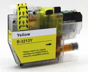 Brother LC3213Y Yellow Ink Cartridge - High Capacity Compatible LC-3213Y Inkjet Printer Cartridge