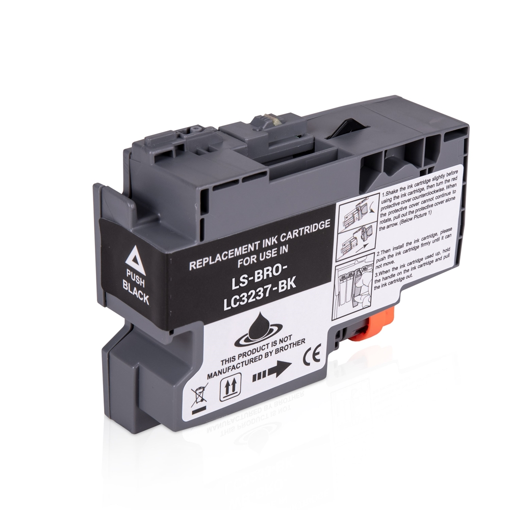 Brother LC3237BK Black Ink Cartridge, Compatible LC-3237BK Inkjet Printer Cartridge