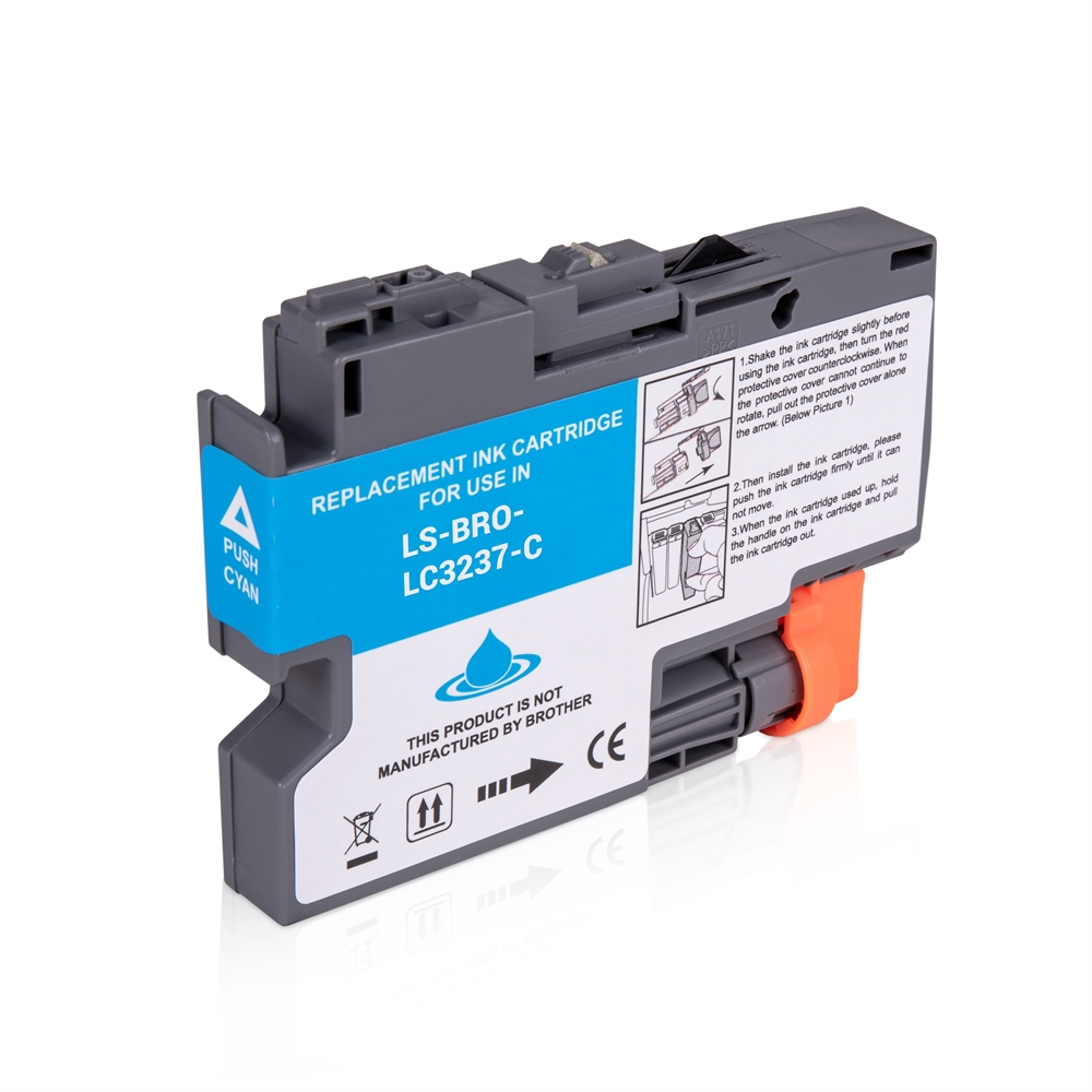 Brother LC3237C Cyan Ink Cartridge, Compatible LC-3237C Inkjet Printer Cartridge