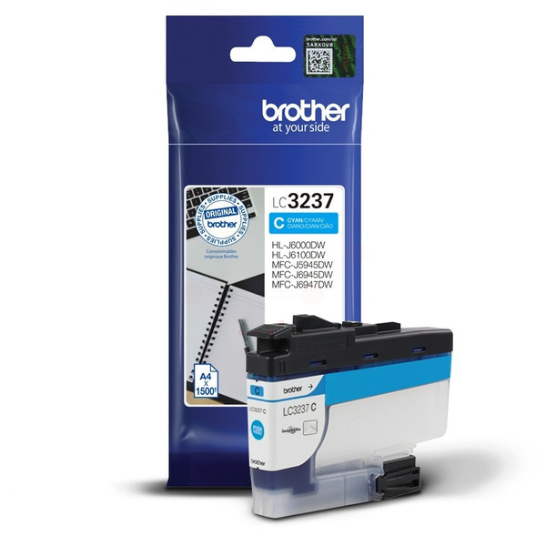 Brother LC3237C Ink Cartridge Cyan, LC-3237C Inkjet Printer Cartridge