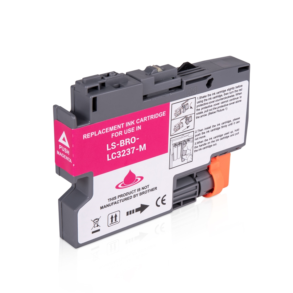 Brother LC3237M Magenta Ink Cartridge, Compatible LC-3237M Inkjet Printer Cartridge
