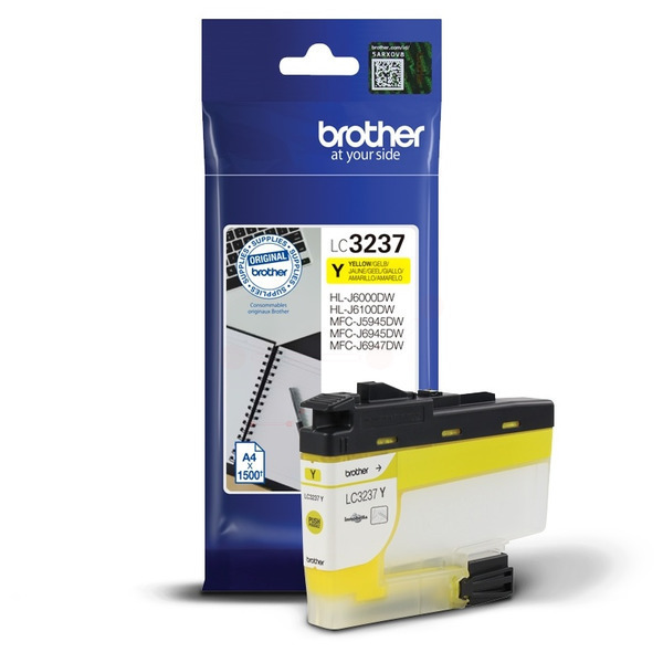 Brother LC3237Y Ink Cartridge Yellow, LC-3237Y Inkjet Printer Cartridge