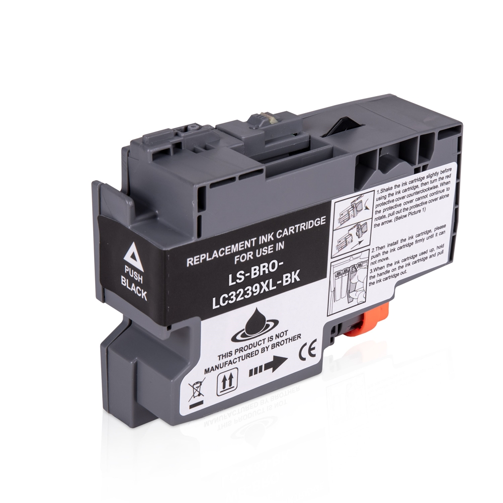 Brother LC3239XLBK Black Ink Cartridge, Compatible LC-3239XLBK Inkjet Printer Cartridge