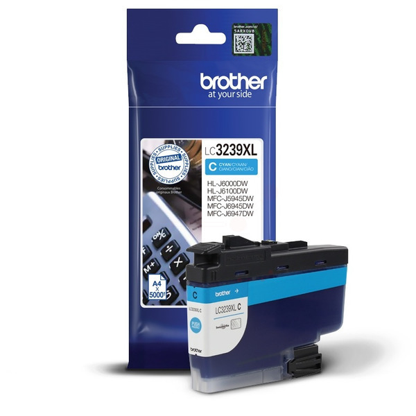 Brother LC3239XLC Ink Cartridge Cyan, LC-3239XLC Inkjet Printer Cartridge