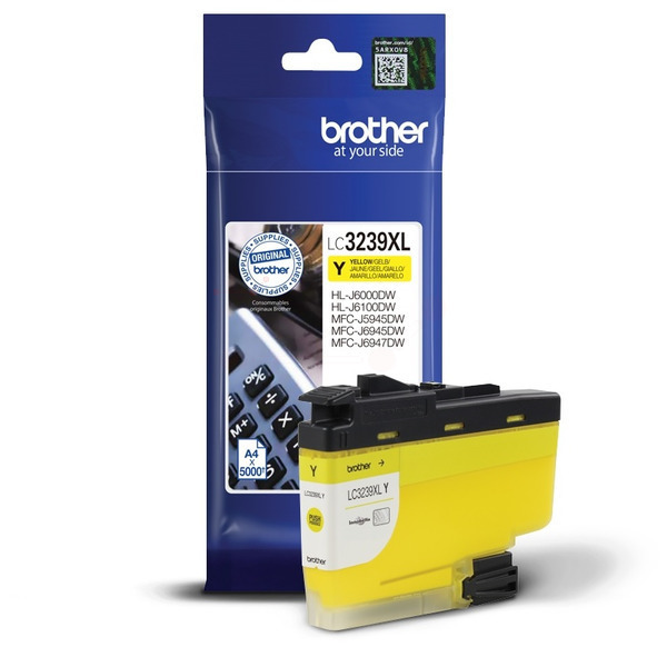 Brother LC3239XLY Ink Cartridge Yellow, LC-3239XLY Inkjet Printer Cartridge