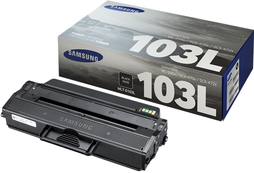 Samsung MLT D103L High Capacity Laser Toner Cartridge, 2.5K Page Yield