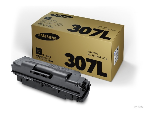 Samsung High Capacity Laser Toner Cartridge MLT D307L, 15K Yield