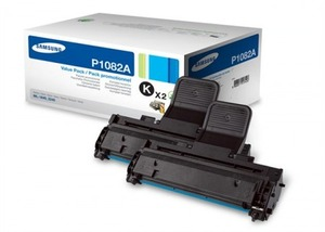Samsung MLT P1082A Twin Pack Black Toner Cartridges, 1.5K Page Yield Each