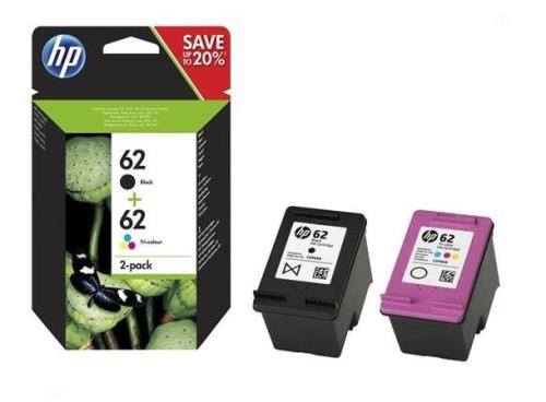 HP 62 Ink Cartridge Black & Colour Multipack N9J71AE