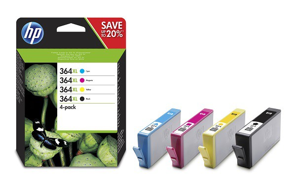 HP 364XL Ink Cartridge Multipack Colour N9J74AE