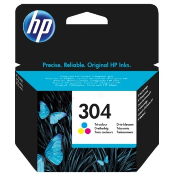 Color HP 304 Ink Cartridge N9K05AE