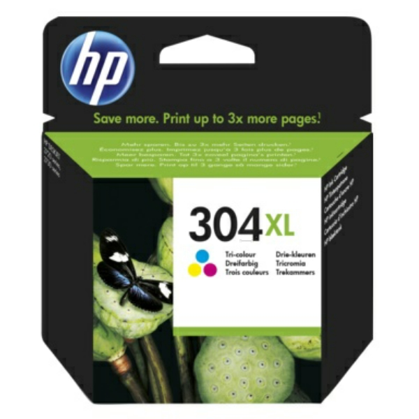 High Capacity Color HP 304XL Ink Cartridge N9K07AE
