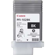 Canon PFI 102BK Black Ink Cartridge, 130ml
