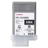 Canon PFI 102MBK Matte Black Ink Cartridge, 130ml
