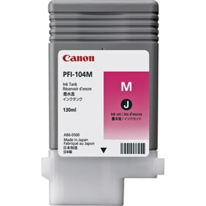 Canon PFI 104M Magenta Ink Cartridge, 130ml