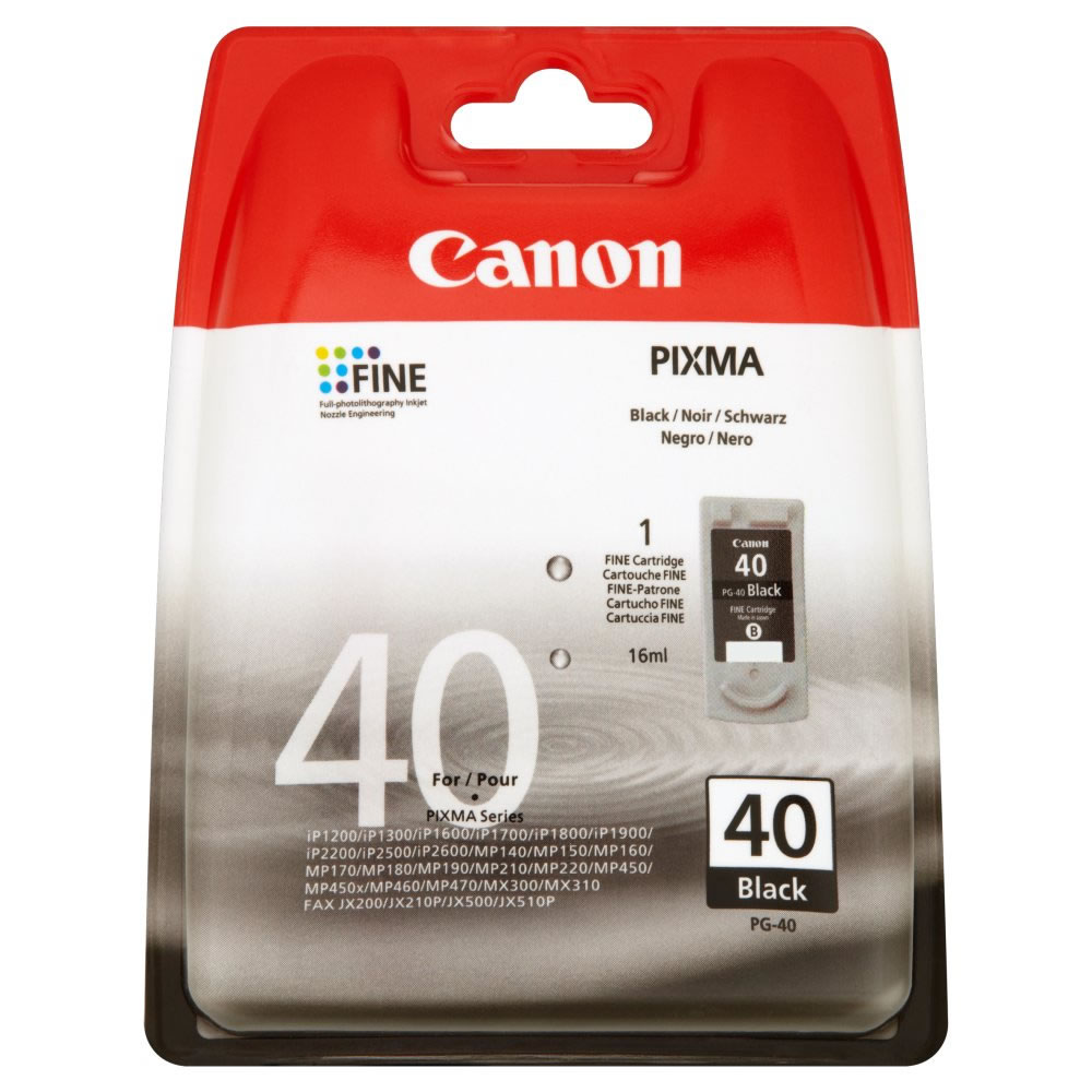 Canon PG-40 Black Ink Cartridge ( 40BK )