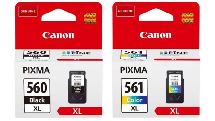 Genuine Canon PG560XL CL561XL High Capacity Black and Color Ink Cartridges