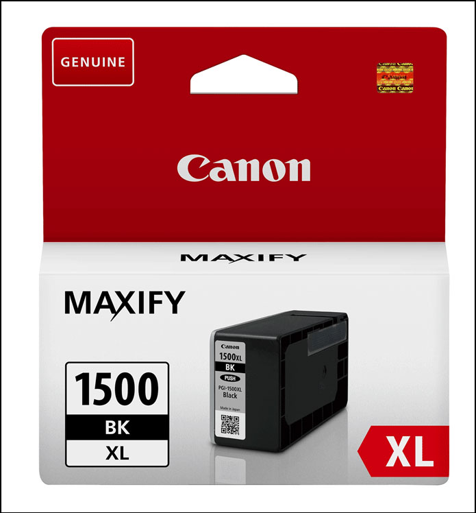 Canon DRHD XL Black Ink Cartridge - PGI-1500XL BK