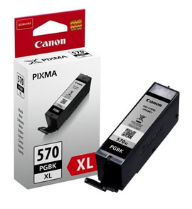 Canon 570XL High Capacity Black Ink Cartridge - PGI 570 PGBK, 22ml