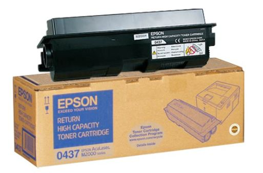 Epson C13S050437 High Capacity Return Program Toner Cartridge, 8K Page Yield