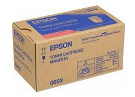 Epson C13S050603 Magenta Toner Cartridge, 7.5K Page Yield