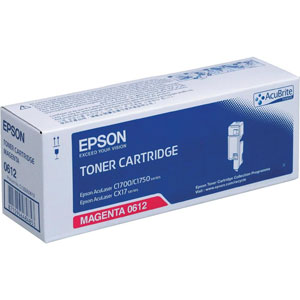 Epson High Capacity C13S050612 Magenta Toner Cartridge, 1.4K Page Yield