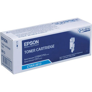 Epson High Capacity C13S050613 Cyan Toner Cartridge, 1.4K Page Yield