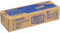 Epson C13S050627 Yellow Toner Cartridge, 2.5K Page Yield