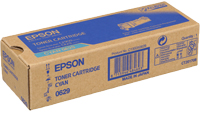 Epson C13S050629 Cyan Toner Cartridge, 2.5K Page Yield