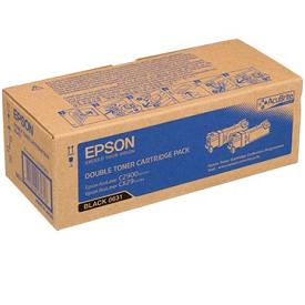 Epson C13S050631 Twin Pack Black Toner Cartridges, 3K Page Yield Each