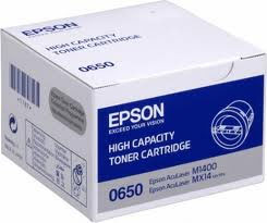 Epson High Capacity C13S050650 Black Toner Cartridge, 2.2K Page Yield