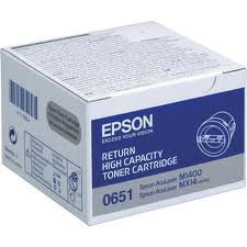 Epson High Capacity Return Program C13S050651 Black Toner Cartridge, 2.2K Page Yield
