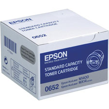 Epson Standard Capacity C13S050652 Black Toner Cartridge, 1K Page Yield