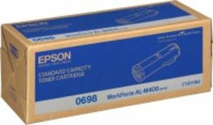 Epson S050698 Black Toner Cartridge, 12K Page Yield