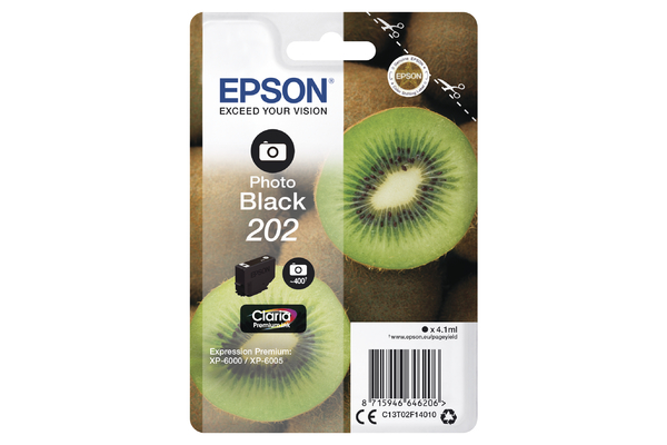 Epson 202 Photo Black Ink Cartridge - T02F1 Kiwi Inkjet Printer Cartridge