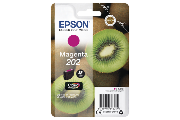 Epson 202 Magenta Ink Cartridge - T02F3 Kiwi Inkjet Printer Cartridge