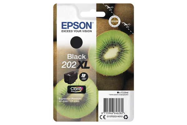 Epson 202XL High Capacity Black Ink Cartridge - T02G1 Kiwi Inkjet Printer Cartridge