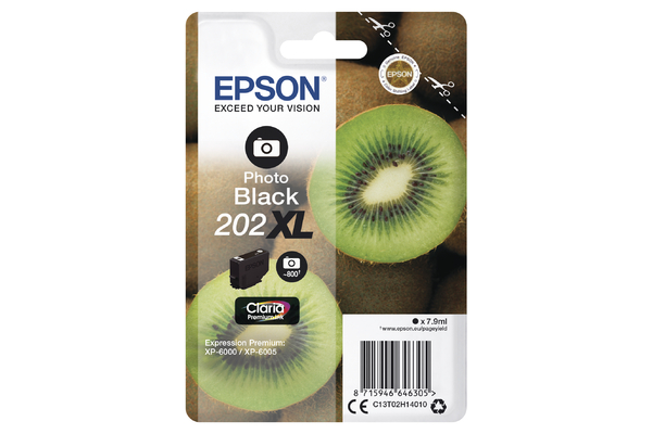 Epson 202XL High Capacity Photo Black Ink Cartridge - T02H1 Kiwi Inkjet Printer Cartridge