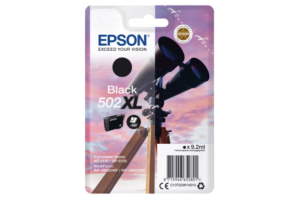 Epson 502XL High Capacity Black Ink Cartridge - T02W1 Binoculars Inkjet Printer Cartridge