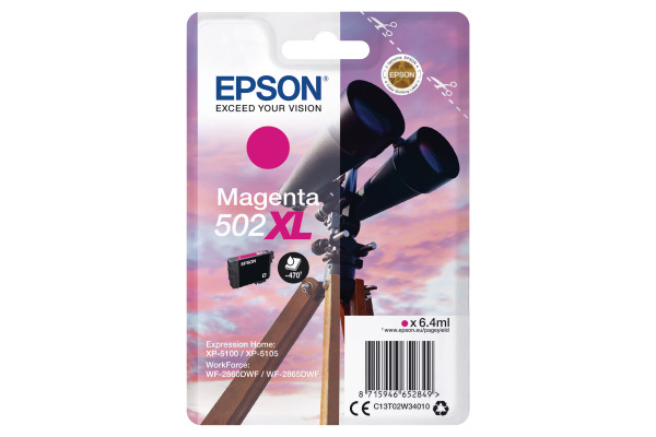 Epson 502XL High Capacity Magneta Ink Cartridge - T02W3 Binoculars Inkjet Printer Cartridge