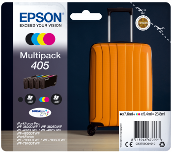 4 Color Epson 405 Ink Cartridge Multipack - T05G640