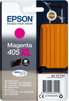 High Capacity Magenta Epson 405XL Ink Cartridge - T05H340