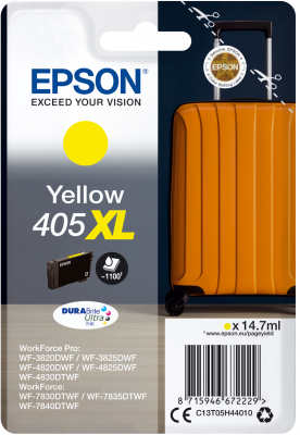 High Capacity Yellow Epson 405XL Ink Cartridge - T05H440