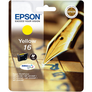 Epson 16 Durabrite Ultra Yellow Ink Cartridge - T1624, 165 Page Yield
