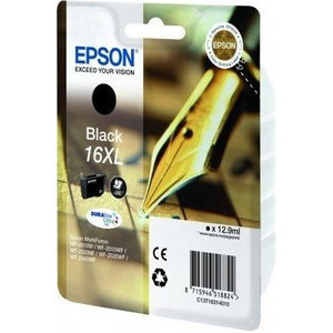 Epson 16XL Durabrite Ultra Black Ink Cartridge - T1631, 500 Page Yield