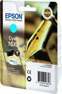 Epson 16XL Durabrite Ultra Cyan Ink Cartridge - T1632, 450 Page Yield