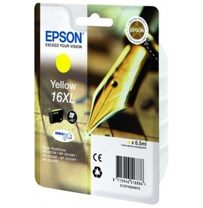 Epson 16XL Durabrite Ultra Yellow Ink Cartridge - T1634, 450 Page Yield