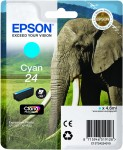 Epson 24 Cyan Ink Cartridge - T2422 Elephant Claria Photo HD, 4.6ml