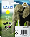 Epson 24 Yellow Ink Cartridge - T2424 Elephant Claria Photo HD, 4.6ml