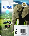 Epson 24XL Light Cyan Ink Cartridge - T2435 Elephant Claria Photo HD, 9.8ml